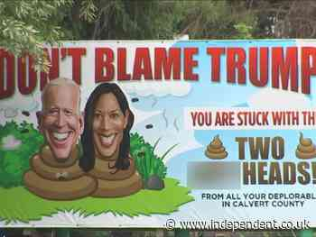 Explicit billboard attacking Biden and Harris causes controversy in Maryland