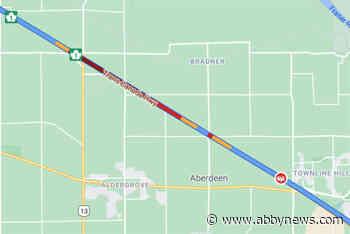 TRAFFIC: Westbound Highway 1 crash blocking left lane in Langley