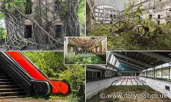 Abandoned buildings around the world now teeming with plant-life after being reclaimed by nature