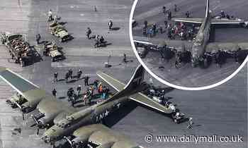 Masters Of The Air brings out the big guns for a scene on the set of new World War II series