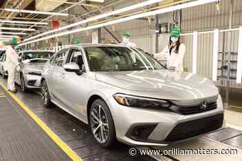 Honda to start 2022 Civic production in Alliston this week - OrilliaMatters