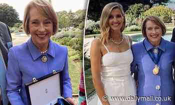Racing heiress Kate Waterhouse pays tribute to mother Gai as she receives Order of Australia medal