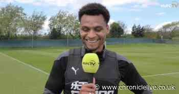 Jacob Murphy cannot hide his joy with fans returning to St James' Park