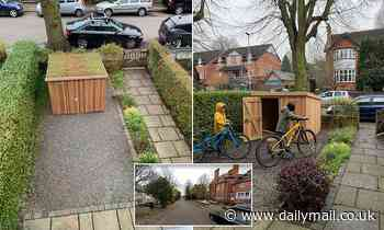 Council orders family to tear down illegal 'eco-friendly' bike shed