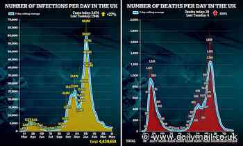 Coronavirus UK: SAGE advisers downgrade warnings on third wave Covid death toll
