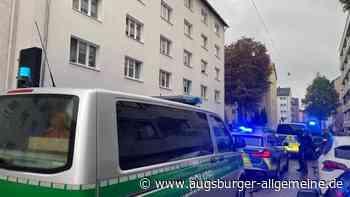 Polizei ist mit einem Großaufgebot in Neu-Ulm im Einsatz