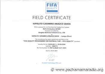 Otorgan Certificación FIFA a campos deportivos de Chuñopampa – Lampa - Pachamama radio 850 AM