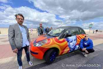 Kunstenaars gebruiken wagen als kleurrijk canvas én eerbetoo... (Knokke-Heist) - Het Nieuwsblad