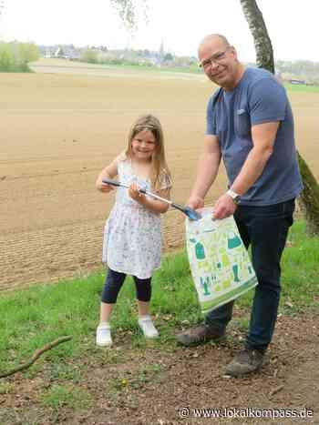 Carsten Fröhlich stellt die Aktionen des NABU Xanten vor: Auch sein Enkeltöchterchen Mila betreibt schon aktiven Umweltschutz - Xanten - Lokalkompass.de