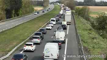 Orchies: plusieurs kilomètres de bouchons sur l'A23 après un accident de la circulation - La Voix du Nord