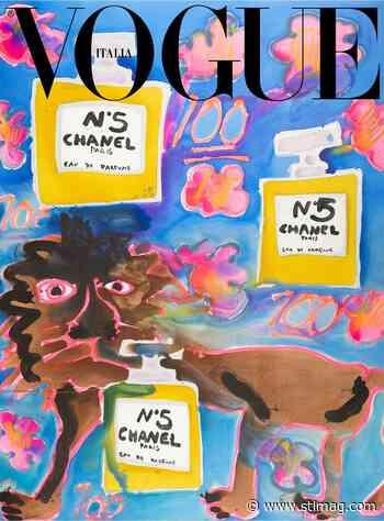 Vogue Italia taps painter Katherine Bernhardt to create its latest cover - St. Louis Magazine