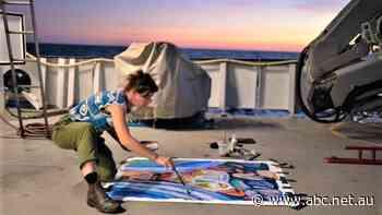 Australian painter Ellie Hannon artist-at-sea on Schmidt Ocean Institute Ashmore Reef voyage - ABC News