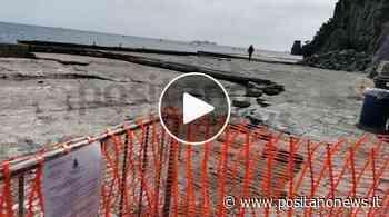 Positano, transenne e reti da cantiere: il molo è ancora off limits - Positanonews