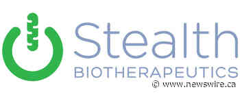 Stealth BioTherapeutics to Report First Quarter Financial Results on Tuesday, May 18, 2021