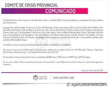 Ascienden a 551 los casos de Coronavirus registrados este martes - Agencia de Noticias San Luis