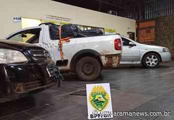 BPFRON apreende carros carregados com cigarros contrabandeados em Terra Roxa - Umuarama News