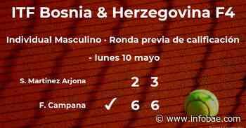 Samuel Martinez Arjona, eliminado del torneo ITF Bosnia & Herzegovina F4 - infobae