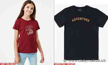 Mums slam Kmart for 'gender stereotypes' for boys and girls in kids clothing range