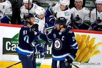 Wheeler has two goals, two assists as Winnipeg Jets clinch third in North Division