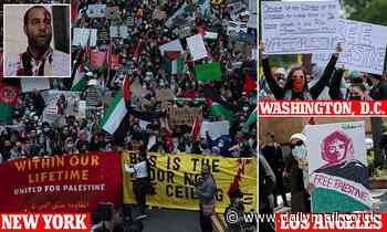 Israeli and Palestinian supporters clash in NYC: Protests take place across US