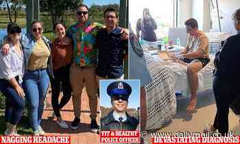 Young policeman gets devastating cancer news