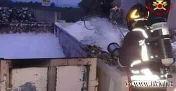 Incendio all'alba nella zona industriale di Pradamano - Il Friuli