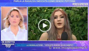 """""""Non sono io Denise Pipitone"""", la ragazza di Scalea gela tutti IN DIRETTA TV a """"Pomeriggio Cinque"""" - VIDEO - Mondopalermo.it"""