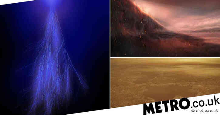From iron rain on exoplanets to lightning on Jupiter: Four examples of alien weather