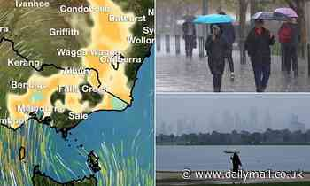 Flood watch issued in Victoria as showers spread from sodden east to the west on Thursday