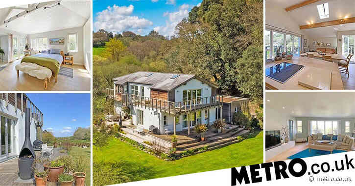House that offers the best of both worlds – as it's in the woods but has stunning sea views – on sale for £1.5million