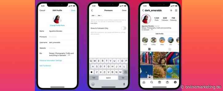 Instagram: User können bevorzugte Pronomen in der Bio angeben