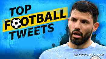 Top football tweets: Sergio Aguero pays penalty for audacious dink - BBC News