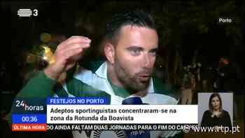 Adeptos do Sporting na cidade do Porto fazem a festa - RTP