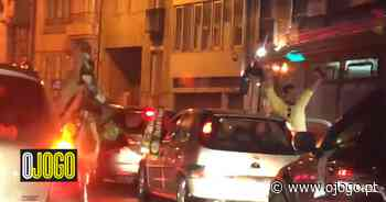 A festa dos adeptos do Sporting na Rotunda da Boavista, no Porto - O Jogo