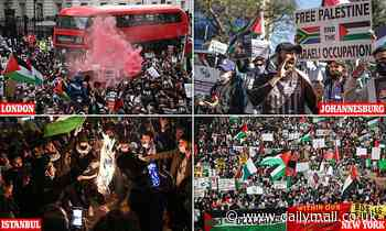 Anti-Israel protests held around the world following dramatic escalation of violence with Hamas