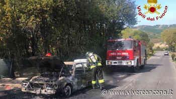 Camerano: auto prende fuoco sulla Cameranense - Vivere Ancona