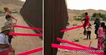 Los columpios rosas en la pared México-Estados Unidos honrados con el premio al Diseño del Año - Bateo Libre