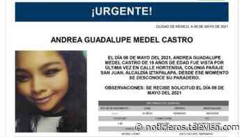 Activan Alerta Amber para localizar a Andrea Guadalupe Medel Castro - Noticieros Televisa