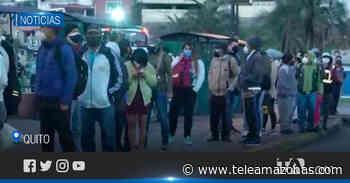 Largas filas en el Playón de La Marín ante la suspensión del transporte - Teleamazonas