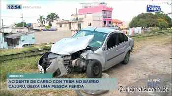 Acidente entre carro e trem deixa uma pessoa ferida no bairro Cajuru - RIC - RIC Mais