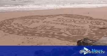 Beach artwork celebrates launch of Angus guidebook - STV News