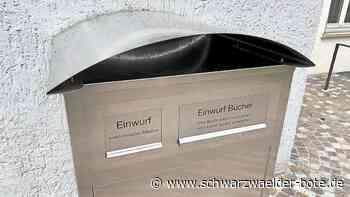 Balingen - Automat nimmt Bücher entgegen - Schwarzwälder Bote