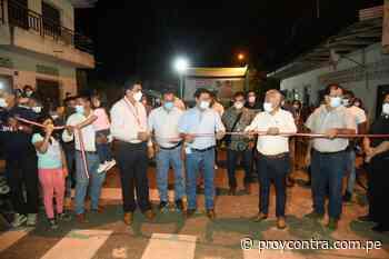 GOBERNADOR DE LORETO INAUGURÓ 15 CUADRAS DE PISTAS ASFALTADAS EN YURIMAGUAS - Diario Pro & Contra - Pro y Contra