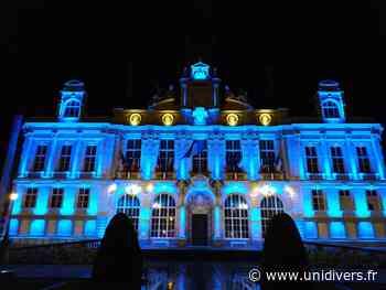 Illumination de l'hôtel de ville de Limoges aux couleurs européennes Mairie de Limoges Limoges - Unidivers
