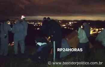Homem cai de cima da Rocha, em Rio Grande da Serra, aproximadamente 10 metros de altura - Bastidor Político