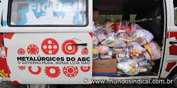 Drive Thru Solidário de Rio Grande da Serra arrecada mais de 8 toneladas de alimentos e produtos   Notícias - Mundo Sindical - Sindicalismo levado a sério!