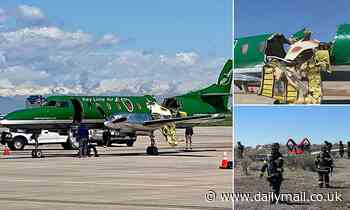 Photos show roof ripped off cabin of cargo plane that survived mid-air collision over Colorado