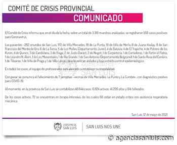 Son 556 los casos de Coronavirus registrados este miércoles - Agencia de Noticias San Luis