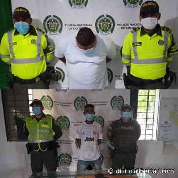 En Sabanagrande dos personas son capturadas por porte ilegal de armas - Diario La Libertad