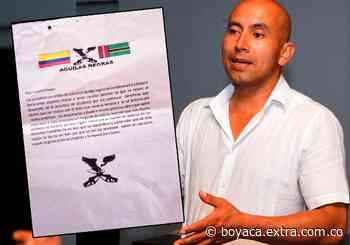 Amenazan a ex alcalde de Pauna con panfleto de las supuestas 'Águilas Negras' en Boyacá | Boyacá - Extra Boyacá
